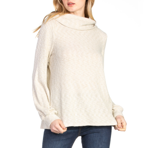 Women's  Knit Cowl Neck Long Sleeve Sweater