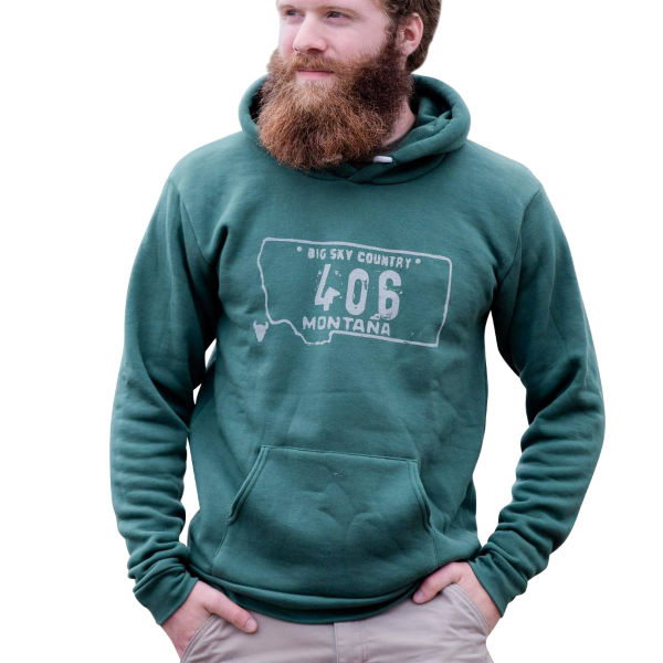 Murdoch S Montana Shirt Co 406 License Plate Hoodie
