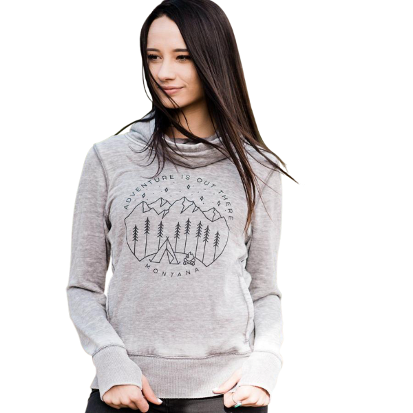 Adventure is Out There Cowl Neck Sweatshirt
