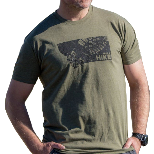 Montana Shirt Co Men S Take A Hike Montana Short Sleeve Tee