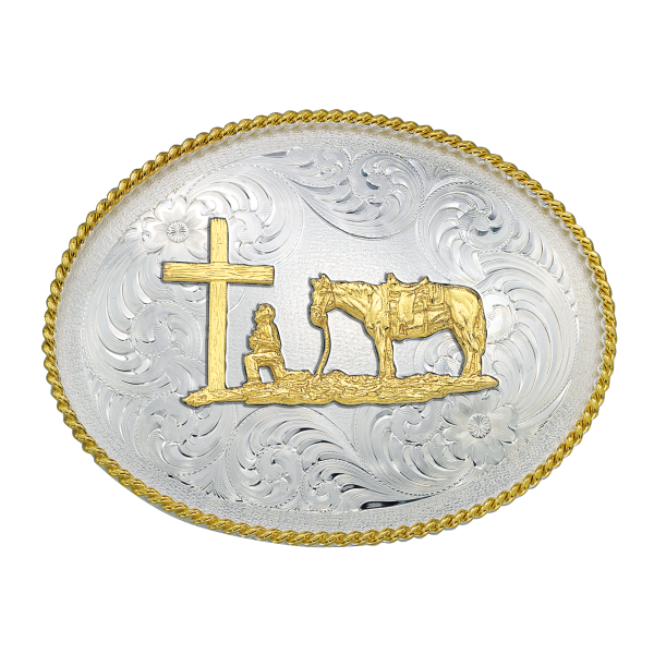 1350 Series Christian Cowboy Western Belt Buckle