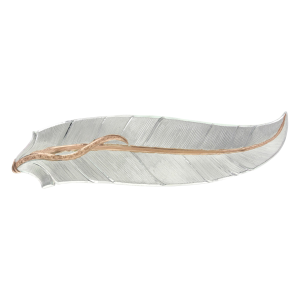 Women's  Rose Gold Accent Feather Hair Clip
