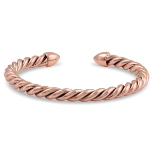 Unisex Roped in Rose Gold Cuff Bracelet