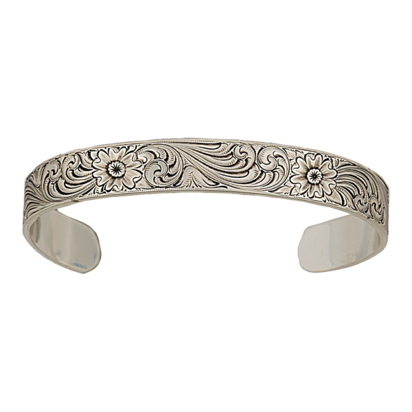 Antiqued Montana Classic Engraved Narrow Cuff Bracelet