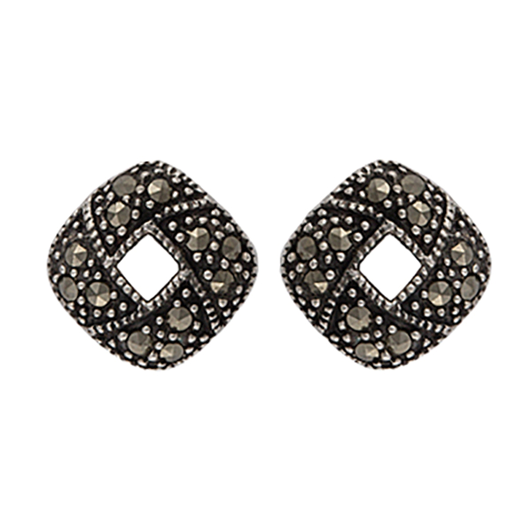 Sparks Will Fly Fire Ring Marcasite Post Earrings