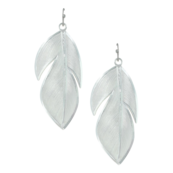 Floating Feather Earrings