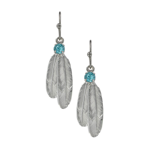 Women's  Gift of Freedom Feather Earrings