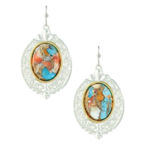 Women's  Sweet Memories Mountain Glacier Turquoise Earrings