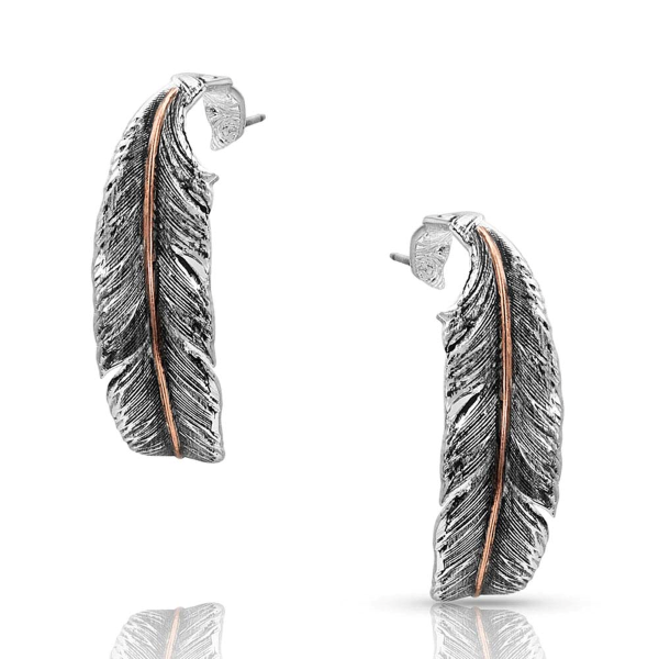 Wind Dancer Feather Hoop Earrings