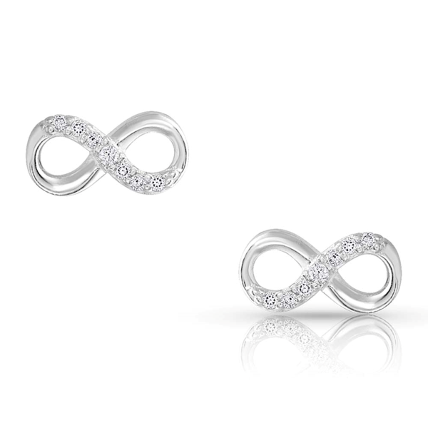 Silver Shine Infinity Earrings