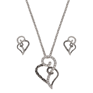 Women's  Woven Hearts Jewelry Set