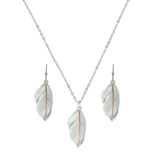Women's  Downy Feather Jewelry Set