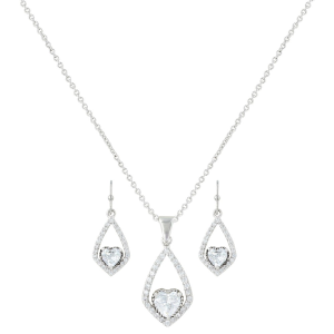 Women's  Hearts on a Swing Jewelry Set