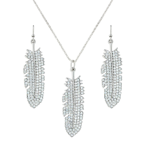 Women's  Shimmering Feather Jewelry Set