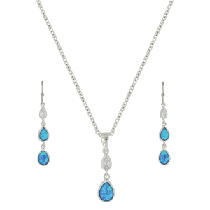 Women's  River of Lights Falling Into Water Jewelry Set