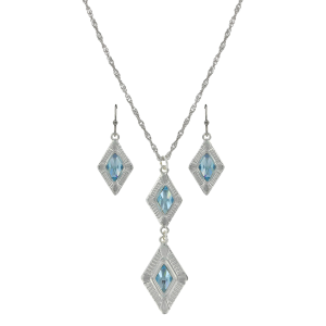Women's  Summer Skies Double Diamond Jewelry Set