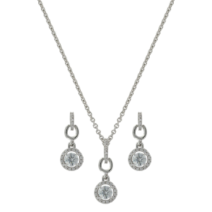 Women's  Halo and Horseshoes Jewelry Set