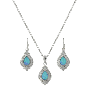 Women's  Royal Cluster Drop Jewelry Set
