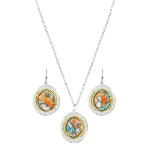 Women's  Sweet Memories Mountain Glacier Turquoise Jewelry Set