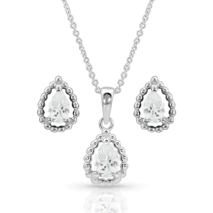 Women's  Arctic Rain Teardrop Jewelry Set