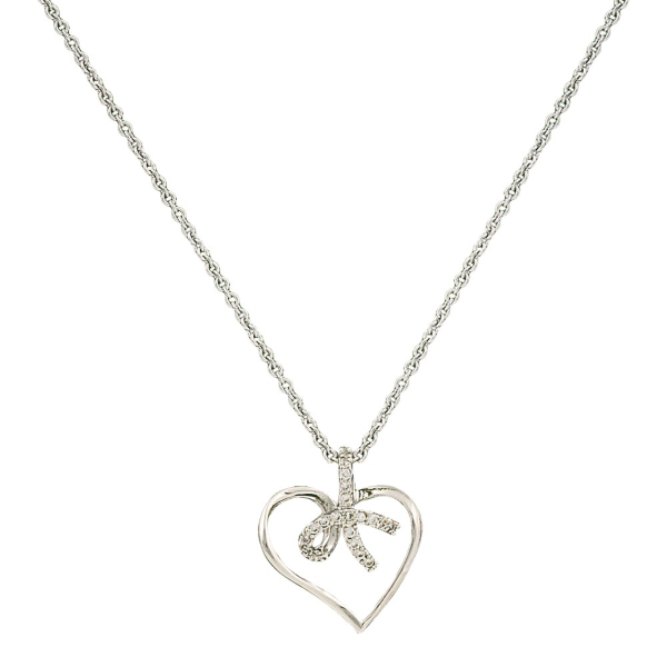 Petite Heart Tied In A Bow Necklace