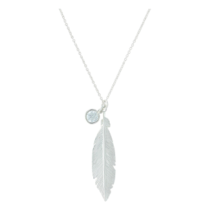 Women's  Starlight Feather Charm Necklace