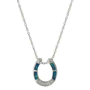 Women's  River of Lights Stars in Water Horseshoe Necklace