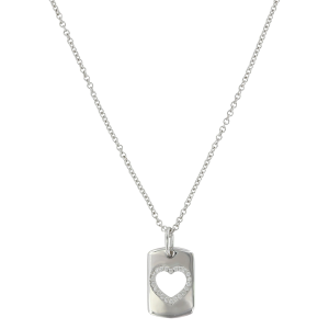 Women's  Tag of Love Heart Necklace