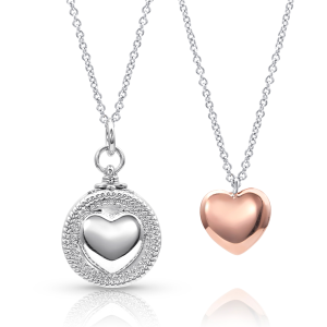 Women's  Every Second Counts Heart Locket Necklace