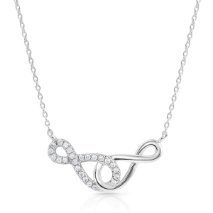 Women's  Infinity Times Infinity Necklace