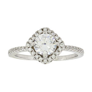 Women's  Squarely Perfect Haloed Ring