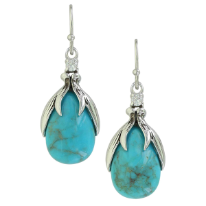 Women's  Sterling Lane Crowns of Glory Turquoise Earrings