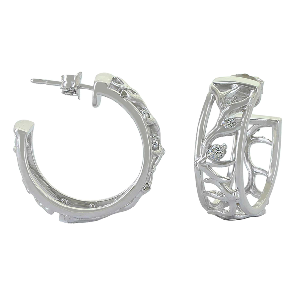 Sterling Lane Embracing the Wild Hoop Earrings