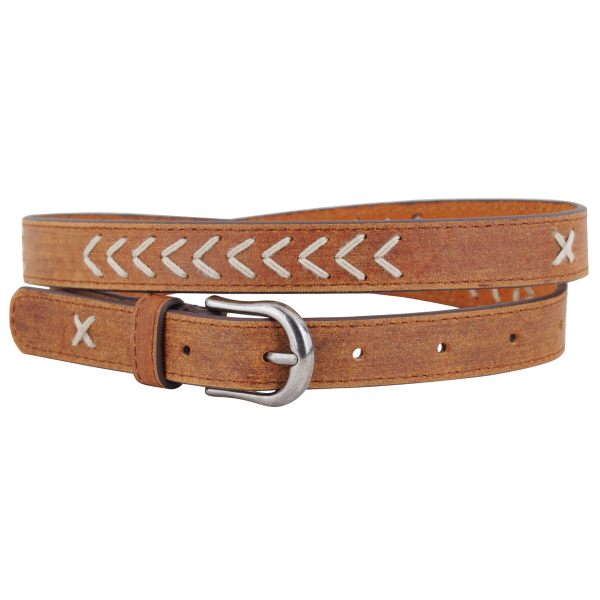 Arrow Chevron Stitched Belt