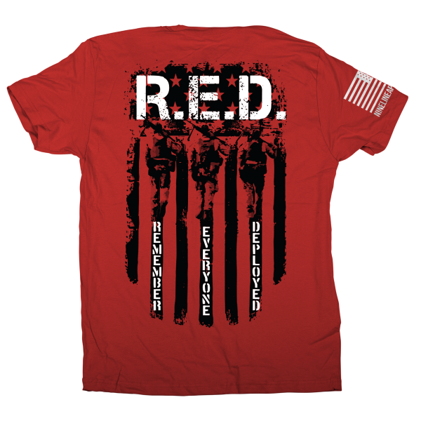 RED - Remember Everyone Deployed - Short Sleeve Tee