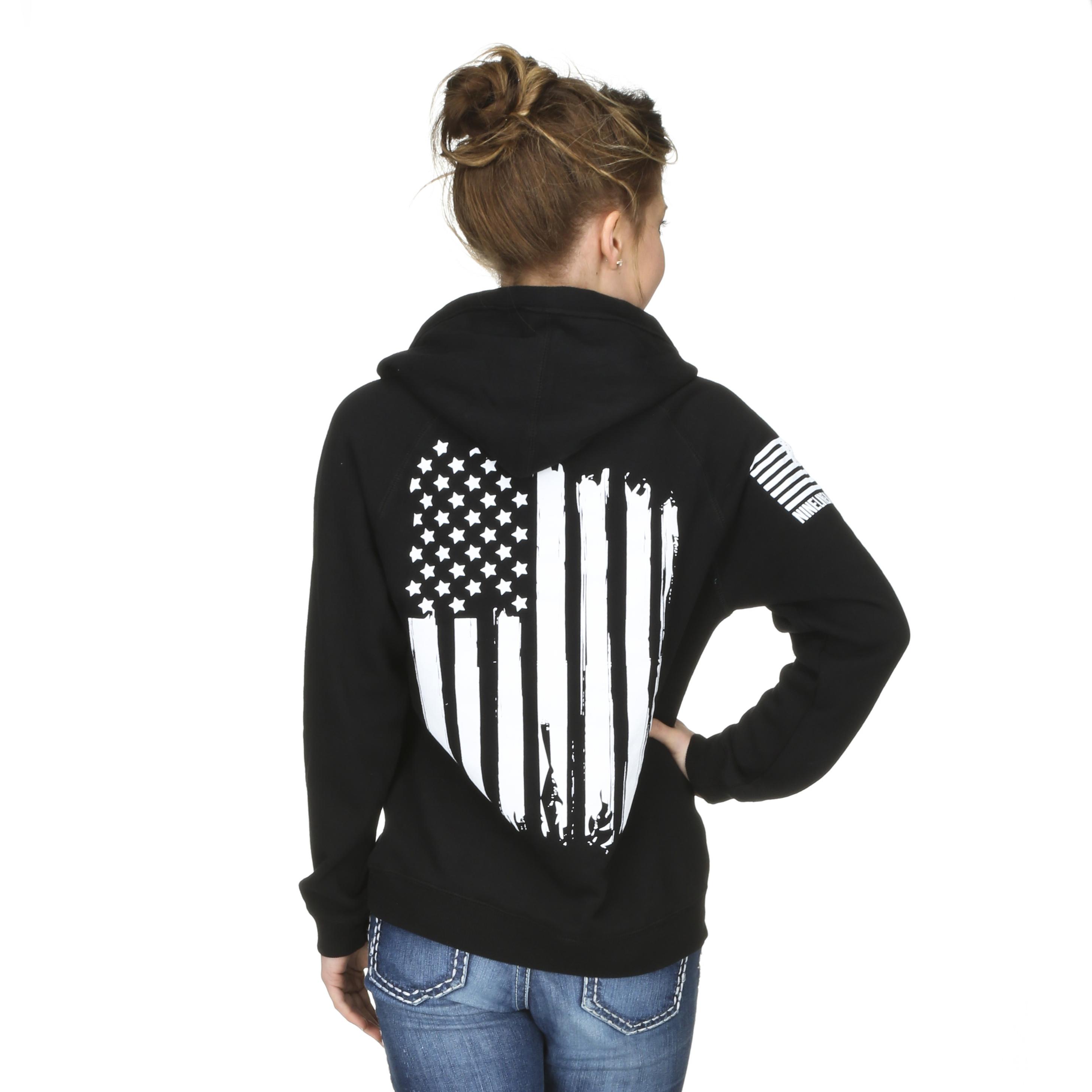 Nine Line Apparel - Women's American Flag V-Neck     - Murdoch's