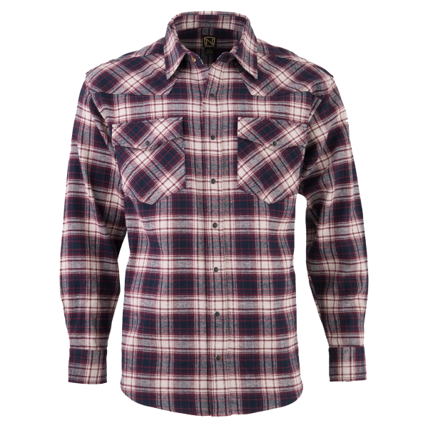 Brawny Snap Front Flannel Shirt