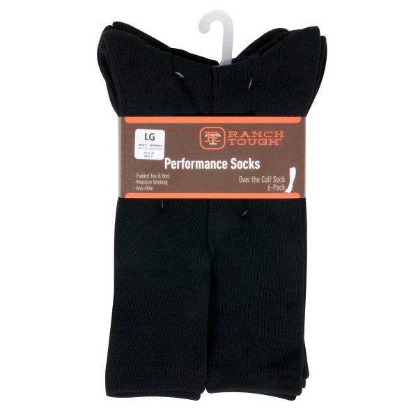 Ranch Tough Over the Calf Sock 6-Pack