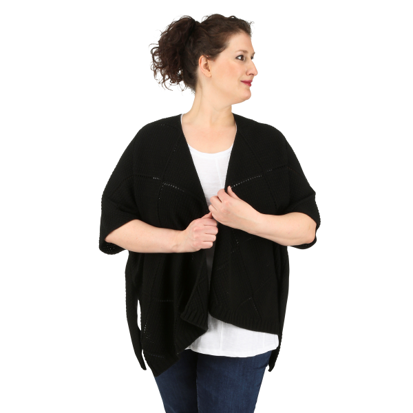 Plus Size Sweater Poncho