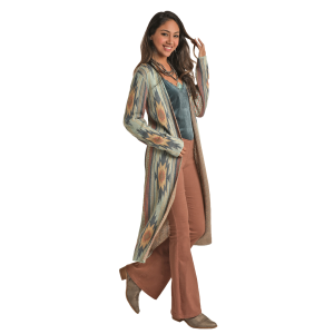 Women's  Aztec Long Sleeve Duster Cardigan