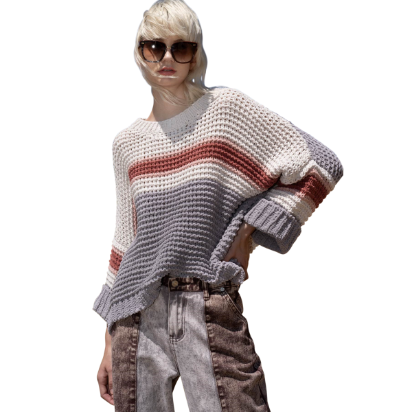 Find Out Soon Stripe Chenille Sweater