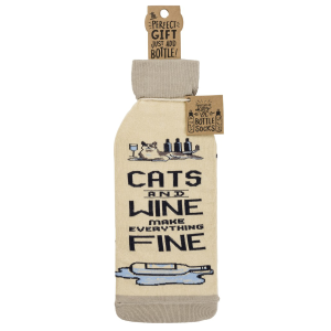 Cats And Wine Make Everything Fine Bottle Sock