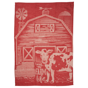 Living The Farm Life Dish Towel