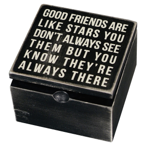 Good Friends Are Like Stars Hinged Box