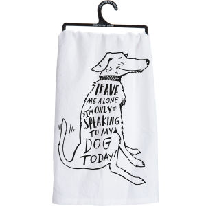 Speaking To Dog Dish Towel