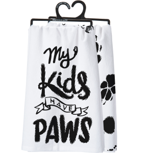 Kids Have Paws Dish Towel