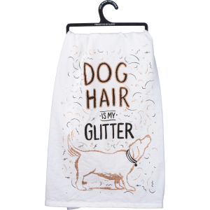 Dog Hair Glitter Dish Towel