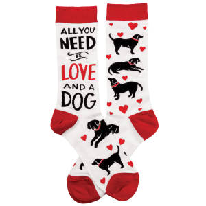 Women's  Love and A Dog Sock