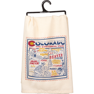 Embroidered Colorado Dish Towel