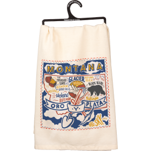 Embroidered Montana Dish Towel